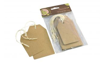 Kraft paper gift tags with cord