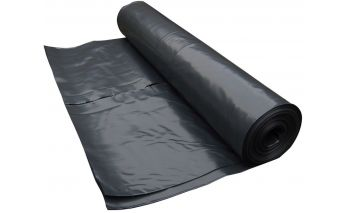 Black polyethylene film, made of secondary raw materials