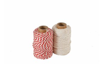 Cotton-synthetic twine suitable for the contact with the food