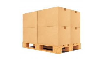 Cardboard boxes adapted for standard pallets