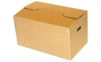 Pārkraušanas kaste no kartona ar rokturiem