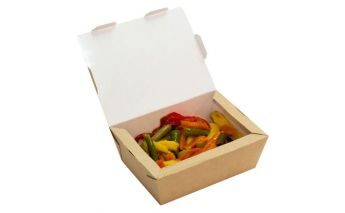 Recyclable eco-friendly kraft paper food box ECO LUNCH
