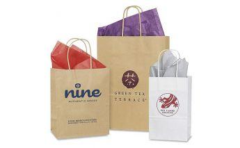 Individuāla sietspiedes un ofseta papīra maisiņu apdruka