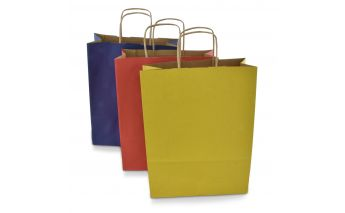 Colored gift bags made of Kraft paper