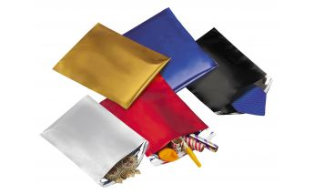 Metallized  gift envelopes with adhesive tape