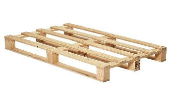 New wooden disposable pallets