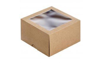 Divdaļīga dāvanu kastīte no kartona ar lodziņu