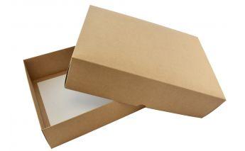 Divdaļīga dāvanu kastīte izgatavota no kartona