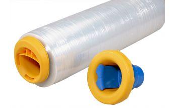 Plastmasas turētājs iepakošanas plēvei