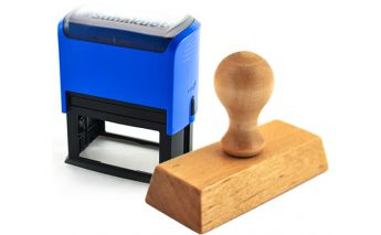 Изготовление штампов c деревянной ручной или прямоугольный