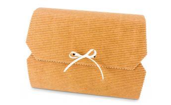 Одного отдела коробочка подарочная, завязываются с помощью ленточки