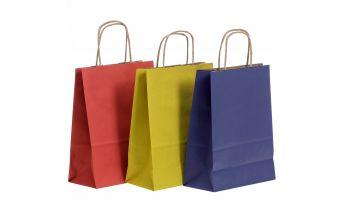 Krāsaini papīra maisiņi no Kraft papīra dāvanām