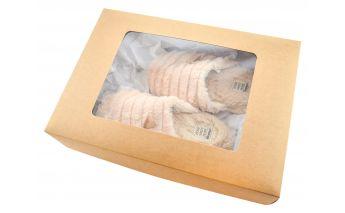 Двухсекционные коробки с окошком из картона