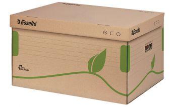 Kaste Esselte, arhivēšanas kastēm, attaisāma no augšas, no pārstrādāta kartona