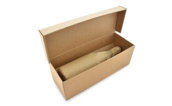 Horizontāla pudeļu kaste ar ieliktni no mikro gofrēta kartona