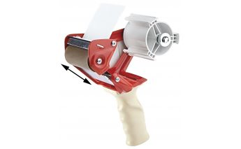 Dispensers for adhesive packaging tape