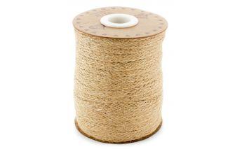 Декоративная льненная натуральная плетённая лента