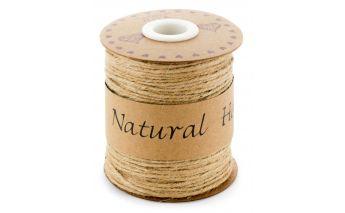 Dekoratīva dabīga brūna lina virvīte
