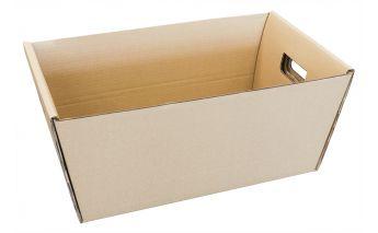 Kartona kaste nešanai ar rokturiem