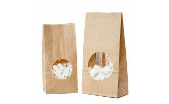 Papīra maisiņi ar lodziņu