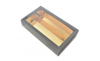Paper candy gift box with window and removable insert