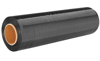 Black Stretch film for manual use 17 or 23 mkr