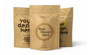 Doy-pack paper bags with the individual print