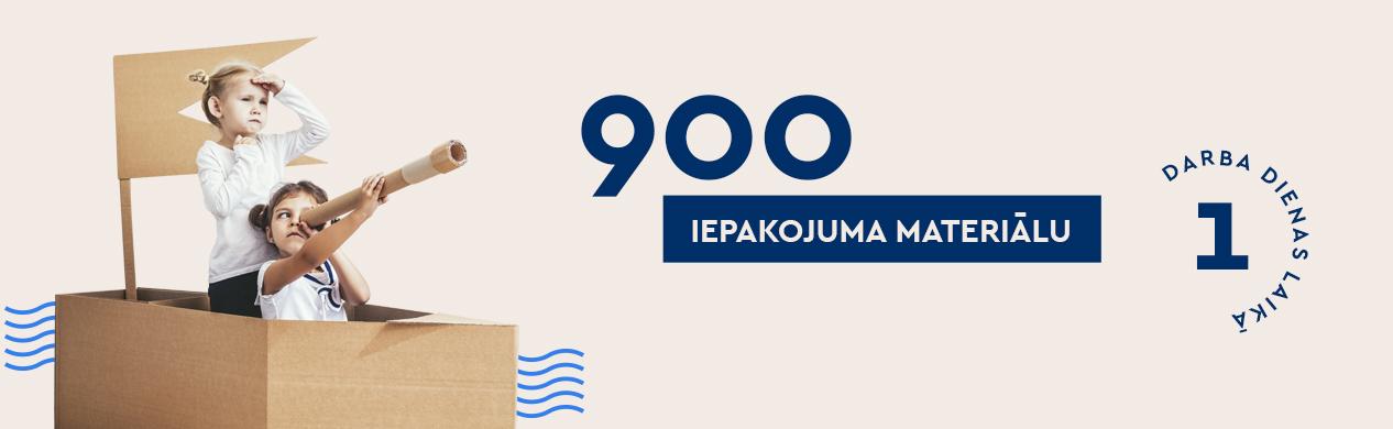 900 pakavimo medžiagų LV